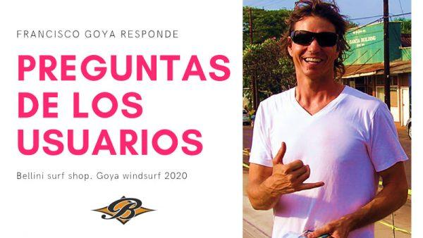 Entrevista Francisco goya. windsurf. Bellini surf shop